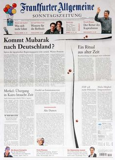 World's Best-Designed Newspaper 2011: Frankfurter Allgemeine Sonntagszeitung (Frankfurt, Germany) #snd #snd33