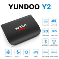 YUNDOO Y2-Android 6.0 TV Box Amlogic S912 Octo core [2GB DDR3/16GB eMMC/BT4.0/WiFi 2.4G 5G/4K] HDMI 2.0 Streaming Media Player Preloaded KODI 16.1 Smart Ott Device -- Awesome products selected by Anna Churchill