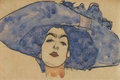 Portrait of Eva Freund (née Gallus) (ca. 1910) - Egon Schiele