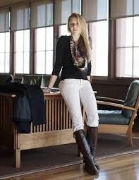 white leggings with brown boots - Google Search