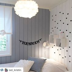 Vita Lighting Eos feather lamp in kids room. Photo by Kristin Sol.