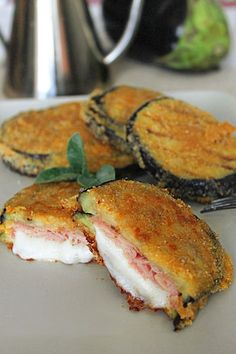 cordon-bleu-de-berenjenas - Fırın yemekleri - Las recetas más prácticas y fáciles Easy Soup Recipes, Veggie Recipes, Vegetarian Recipes, Healthy Recipes, Healthy Cooking, Cooking Recipes, Fall Cookie Recipes, Easy Eat, Cordon Bleu
