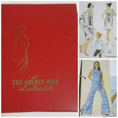 Vintage 1960s Lutterloh's Golden Rule Sewing Pattern Binder Plus Supplement | eBay