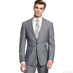 New Arrival gray tuxedos for men side vent wedding suits for men 2 pieces men suits slim fit two buttons groomsmen suits