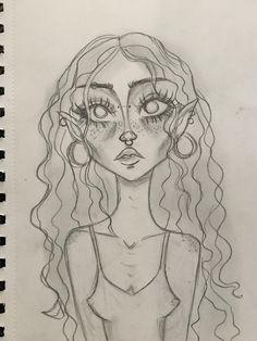 Indie Drawings, Art Drawings Sketches Simple, Cool Drawings, Face Drawings, Sketch Drawing, Arte Grunge, Grunge Art, Arte Indie, Indie Art