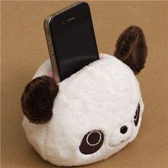 white chocopa bear plush cellphone holder from Japan