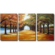 Pretty Wall art @Overstock - Title: Golden Road Product type: Gallery-wrapped canvas art set Image dimensions: 36 inches high x 60 inches widehttp://www.overstock.com/Home-Garden/Golden-Road-3-piece-Gallery-wrapped-Canvas-Art-Set/5147343/product.html?CID=214117 $154.99