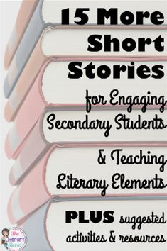 Looking for even more short stories to read with your middle school and high school students? There are so many options out there, many of which can be used to teach a variety of literary elements and lead into interesting discussions and activities. Teaching Short Stories, Short Stories To Read, Middle School Reading, Middle School English, Secondary School English, Teaching Literature, Teaching Reading, Reading Classes, Reading Tutoring