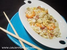 Caceroladas: Arroz chino frito 3 delicias.