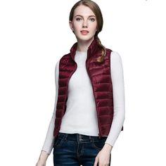 685178bf84601f Winter Women 90% White Duck Down Vest