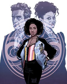 Doctor Who ~ The Twelfth Doctor, Missy and Bill (Artist Unknown)