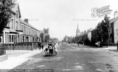 Photo of Bishop Auckland, Cockton Hill Road 1914 Bishop Auckland, North East England, Newcastle, Street View, History, Places, War, Historia, Lugares