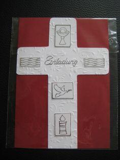 Edle Karte / Einladungskarte zur Kommunion / Taufe