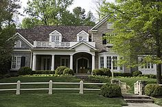 Home exterior architecture and landscaping -Spitzmiller & Norris, Inc. Kitchen Arrangement, Up House, House Front, Classic House, Plein Air, Beautiful Bathrooms, My Dream Home, Dream Homes, Exterior Design
