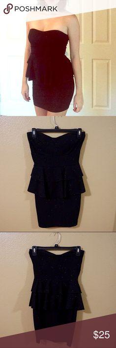 Spotted while shopping on Poshmark: Black Peplum Dress! #poshmark #fashion #shopping #style #WINDSOR #Dresses & Skirts