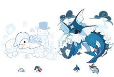 Pokemon Fusion Art, All Pokemon, Pokemon Fan Art, Pokemon Pins, Cute Animal Drawings Kawaii, Cute Drawings, Pokemon Breeds, Pikachu, Pokemon Eeveelutions