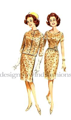 1960s Dress Scoop Neck Fitted Bodice by DesignRewindFashions, $12.00