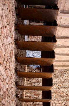 Castelvecchio stair by Carlo Scarpa
