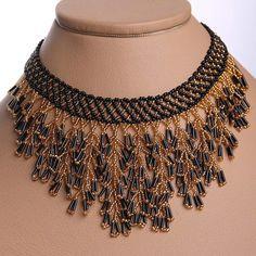 Modern Ukrainian Handmade Beads Beaded NECKLACE by koraliky, $14.45