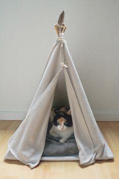 diy tipi pour chats par fabien les bons moments pour Hi love magazine