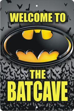 Welcome to the Batcave Personalized Custom made Aluminum Sign Batman bat cave Batman Batcave, Batman Sign, Batman Room, Im Batman, Batman Stuff, Superman, Batman Birthday Cakes, Batman Party, Batman Wallpaper Iphone