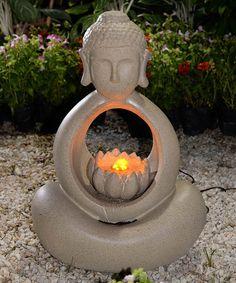 Look at this #zulilyfind! Buddha Lighted Fountain #zulilyfinds