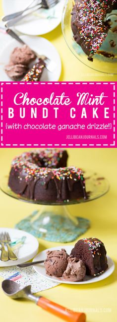 Hands down the easiest and most flavorful chocolate cake recipe I've ever made. A family fave for birthday parties from Jellibean Journals. A drizzle of quick choco ganache and a spattering of sprinkles and presto!