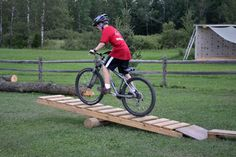 Mountain Bike over obstacles | Tomahawk Scout Reservation