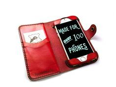 iPhone 6 / 6s Leather Wallet-Case Made of full grain leather. hand crafted in the USA.