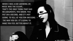 Previous Pinner said: Marilyn Manson Quote. People are scared of Manson because he's different than them. I love Marilyn Manson he's an inspiration. Drug Quotes, Band Quotes, Song Lyric Quotes, Music Quotes, Song Lyrics, Music Mix, My Music, Music Guitar, Marilyn Manson Quotes