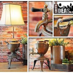 Unique Man Cave Lamp One-of-a-Kind Light Vintage Acme Beer Can Up-cycled Lamp with New Fabric Lampshade