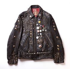 Monza style studded leather jacket