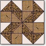 """Double Spinwheels Quilt Block Pattern and Instructions 12"""" block"""