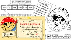 Meet Captain Clockers a unique and visually stimulating character to introduce your student to time telling!