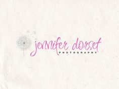 Photography logo design using a dandelion logo watermark. Vector and watermark files included.