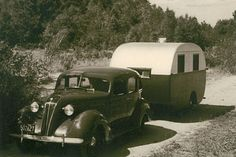 """The """"golden years"""" of travel trailers came after the aviation surge of World War II, and many iconic travel trailers, like the Airstream and the Spartans, trace their lineage back to the war effort. Companies that had built tens of thousands of aircraft in order to win the war converted to making travel trailer in order to celebrate our victory in the post-war era, in the ultimate expression of """"swords into plowshares."""""""