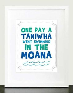 i saw a taniwha it was swimming in the moana. Nursery Prints, Nursery Wall Art, Waitangi Day, Fish And Chip Shop, Tribal Nursery, New Zealand Houses, Maori Designs, Baby Room Art, Maori Art