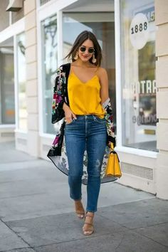 75 classy work outfit ideas for this summer outfits for teens, trendy outfi Mode Outfits, Outfits For Teens, Trendy Outfits, Fall Outfits, Denim Outfits, Outfits With Kimonos, Spring Outfits Women, Fashion Mode, Look Fashion