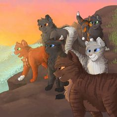 the 4 chosen and 2 more  Brambleclaw, Squirrelpaw, Feathertail, Stormfur, Crowpaw and Tawnypelt