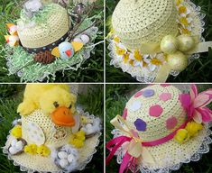 easter bonnets - adults decorate and wear kids pick winner (adult prize) Easter Egg Crafts, Easter Bunny, Easter Eggs, Easter Bonnets, Easter Stuff, Easter Egg Hunt Clues, Easter Hat Parade, Hat Crafts, Diy Ostern