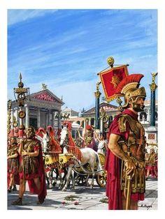 Roman soldiers in The Forum in Rome. Rome History, Ancient History, Art History, Ancient Rome, Ancient Greece, Rome Antique, Roman Warriors, Roman Legion, Classical Antiquity