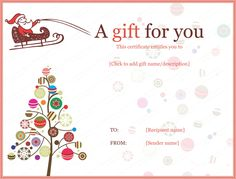 Download the christmas gift certificate from vertex42 it worked get beautifully designed jolly simple christmas gift certificate template from our premium certificates collection all designs are customizable and yadclub Image collections