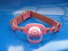 Pink pacifier ballgag (so cute...)