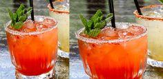 Fresas y Menta Tequila Margarita: