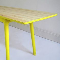 painting a wood bench or table on the sides and legs