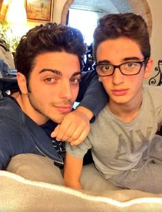 Gianluca Ginoble and much loved little brother Erny (Ernesto) Ginoble at home in Montepagno! ⭐️IL VOLO⭐️