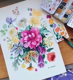 Josefina Jiménez (@jojimenez) • Fotos y vídeos de Instagram Instagram, Tableware, Arts Plastiques, Watercolor Painting, Manualidades, Dinnerware, Tablewares, Dishes, Place Settings