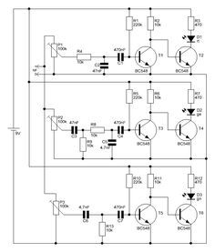 3 Kanal LED-Lichtorgel