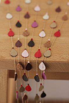 raindrop garland...this can be made with guitar picks