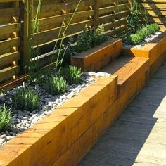A lot of creativity can be done in your garden, provided if you are completely bored with your garden's simple look. A part from using the bricks and other Back Garden Design, Raised Bed Garden Design, Yard Design, Landscaping Supplies, Backyard Landscaping, Lawn And Garden, Garden Beds, Sleepers In Garden, Raised Beds Sleepers